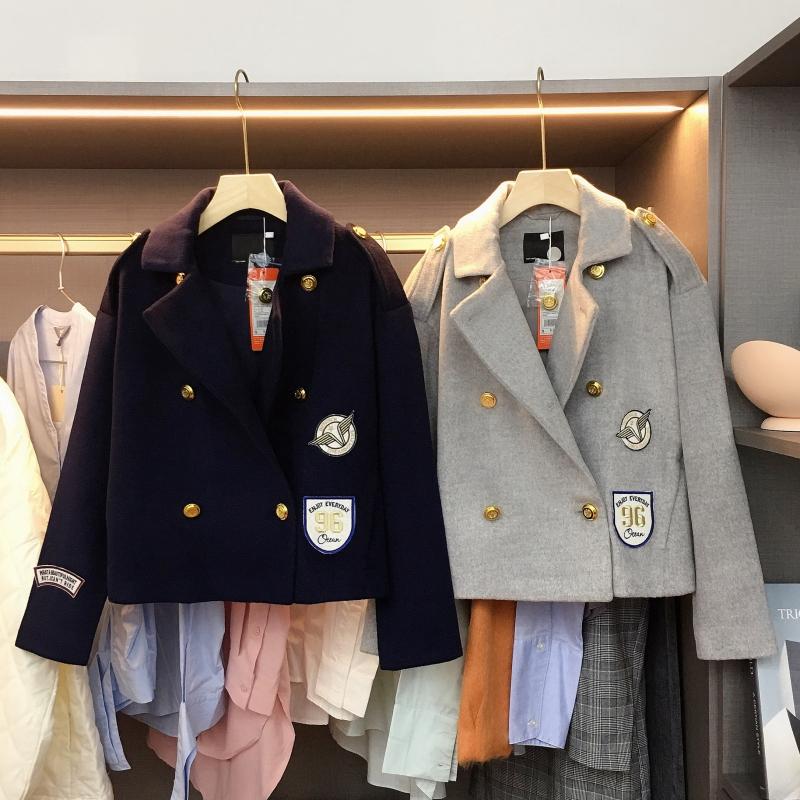 【羊毛夹克】英伦风刺绣羊毛夹克外套-时时淘