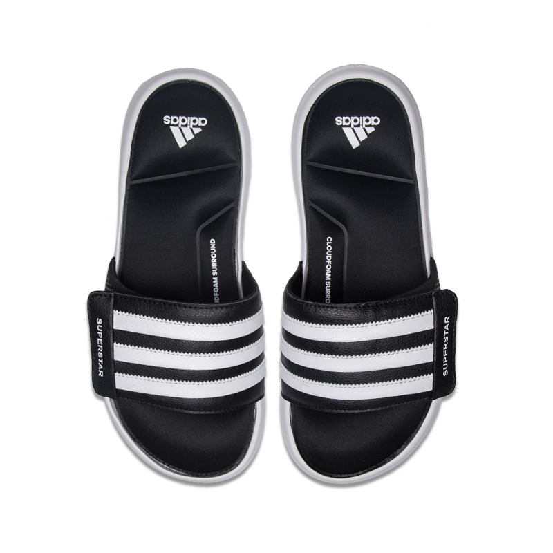 3c1ec08387bc ... Adidas Adidas Slippers 2018 New Superstar 5G Velcro Beach Sandals AC8325  ...