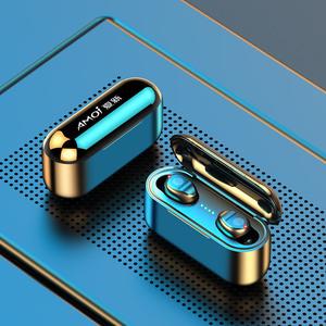 夏新真无线蓝牙耳机5.2双耳迷你隐形小型高端入耳式运动跑步游戏超长待机续航适用苹果X华为vivo小米oppo通用
