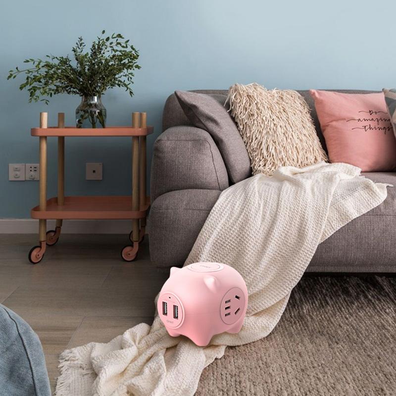 【预售】正泰创意猪猪排插礼品长线家用接线板电插板宿舍带线插排