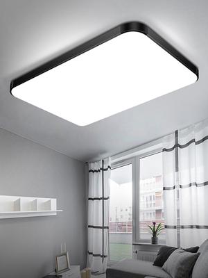 透镜led吸顶灯客厅现代简约长方形主卧室灯大厅家用吸灯顶阳台灯