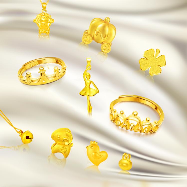 Золотая корона дверь Ювелирные изделия Gold Factory Direct Supply 999 Gold 3D Hard Gold 18K Золотые ювелирные изделия Живая комната Специальная стрельба