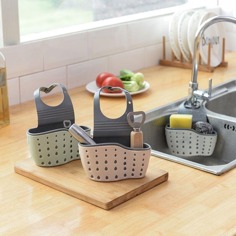 【厨房帮手】芯爱按扣式水槽收纳篓