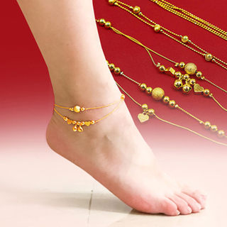 Hong Kong duty-free gold anklet female new style counter genuine transfer beads plating for girlfriend gifts