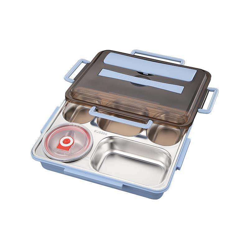 德国饭盒分隔型保温304不锈钢餐盒套装