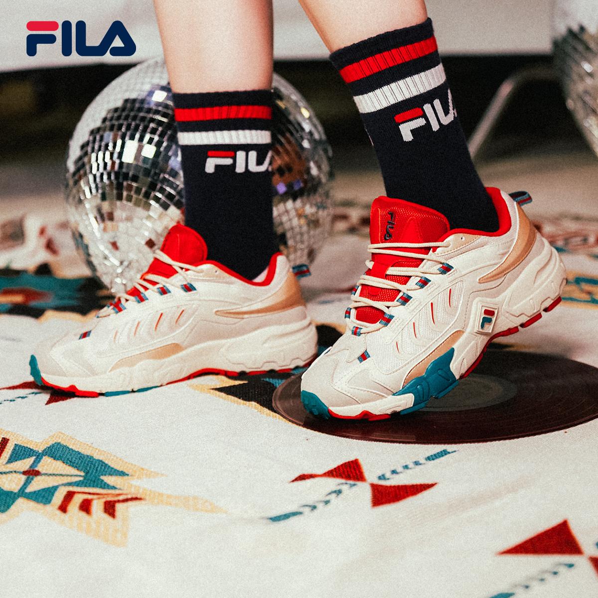 FILA 斐乐女鞋官方掠夺者老爹鞋�运动鞋休√闲鞋2020秋季新款旅游鞋