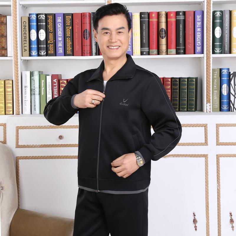Mùa xuân và mùa thu mô hình trung niên mặc giản dị áo khoác áo sơ mi nam cộng với chất béo mã của nam giới áo khoác thể thao áo khoác nam áo khoác quần áo