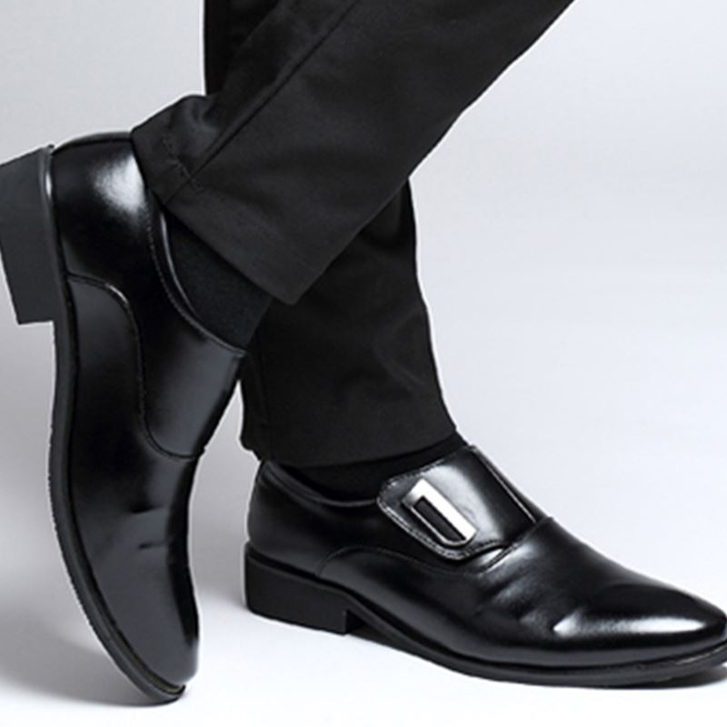 Men Formal Oxfords Leather shoes Business Dress Casual