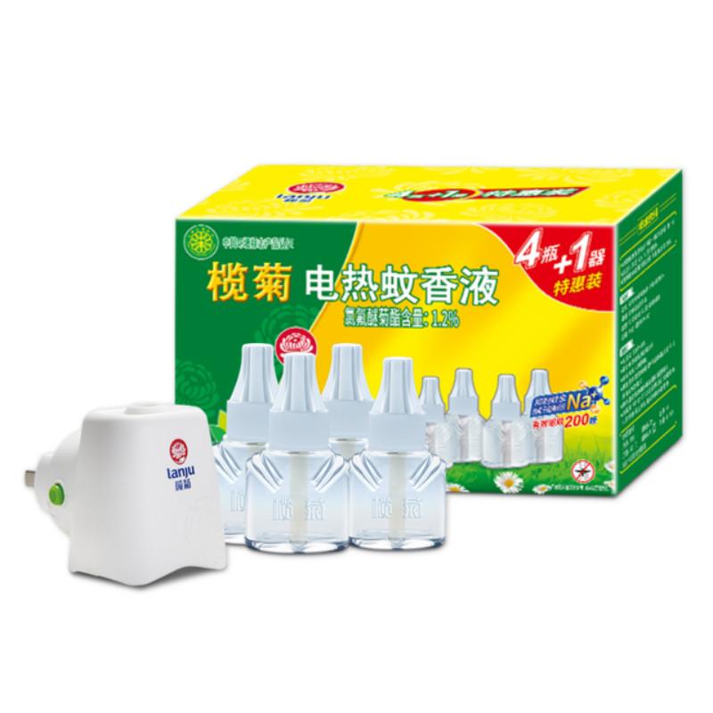 【榄菊官方旗舰店】电热蚊香液4瓶+1器