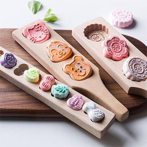 南瓜木质50克卡通家用印具老式模具模子中国风模型冰皮磨具饼月饼