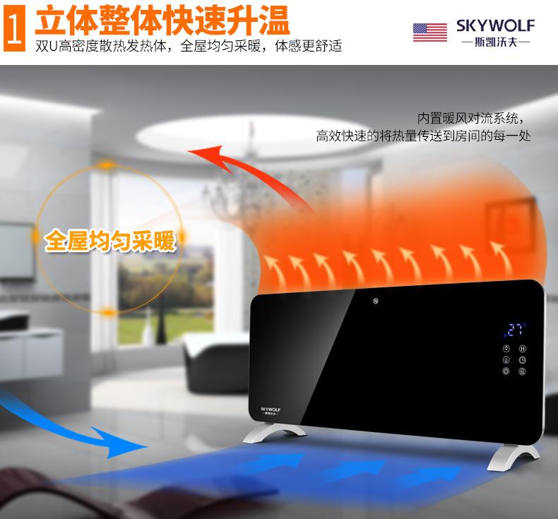 美国 斯凯沃夫 居浴两用恒温取暖器 2200W 图5