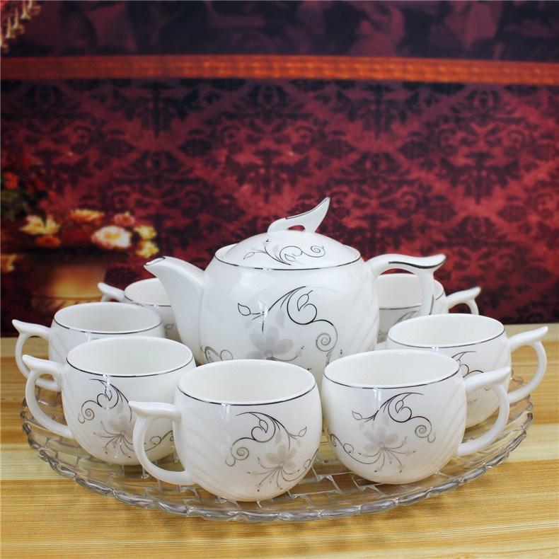 Arst/雅诚德8+1茶具高档瓷器茶具配玻璃茶盘茶壶+茶杯套装包邮
