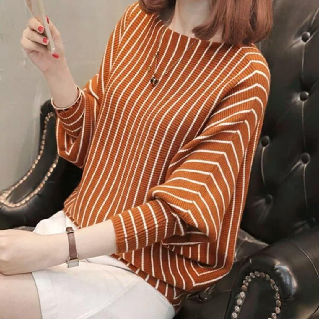 春秋装2018毛衣袖针织衫薄款女2017新款韩版宽松学生蝙蝠外套短款