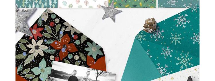 华丽花卉复古圣诞节平铺无缝背景花纹矢量背景元素图案设计素材插图(18)