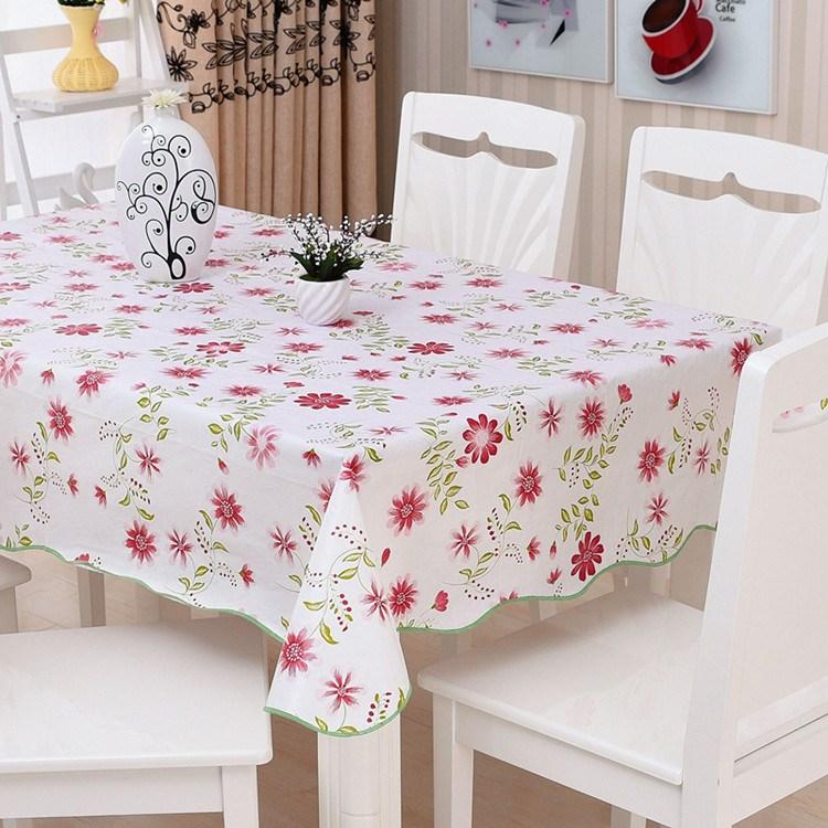 pvc桌布防水家用大长方形西餐乡村可彩色清新台布背景塑料复古餐
