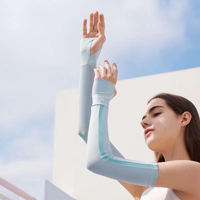 蕉下冰袖女冰丝防晒袖套手袖开车手套护臂夏季防紫外线手臂套袖男