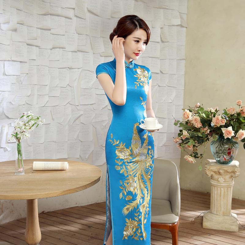 2016新款女装时尚名媛气质改良礼服包臀连衣裙C0041-A旗袍长旗袍