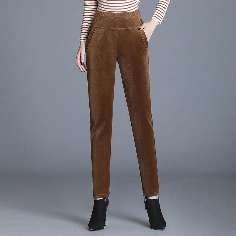 韩国站 新款女装2020新潮打底裤外穿宽松显瘦黑色运动直筒裤子女