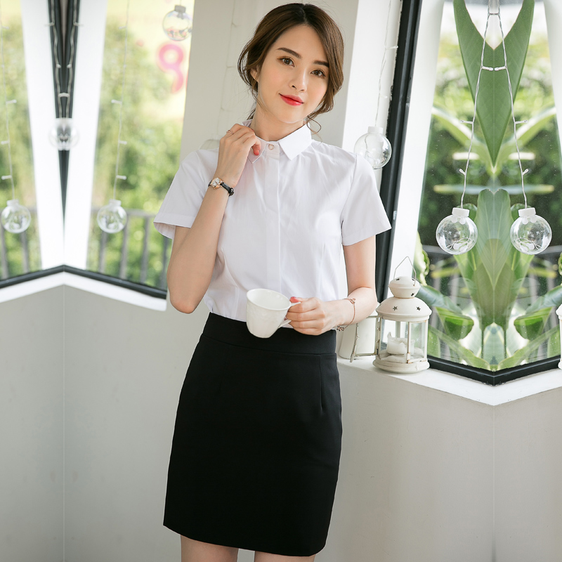 54a9fa23bc2 Business wear suit female short-sleeved 2019 new women s dress skirt fashion  tooling overalls interview summer ol dress