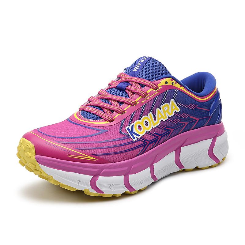 酷拉锐跑步鞋女2019新款网面女士运动鞋夏季透气马拉松跑鞋减震鞋