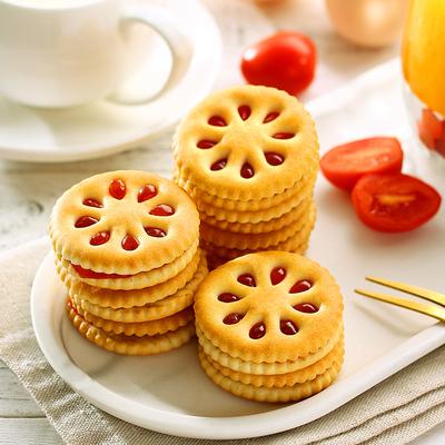 旺通  早餐水果酱夹心饼干300g