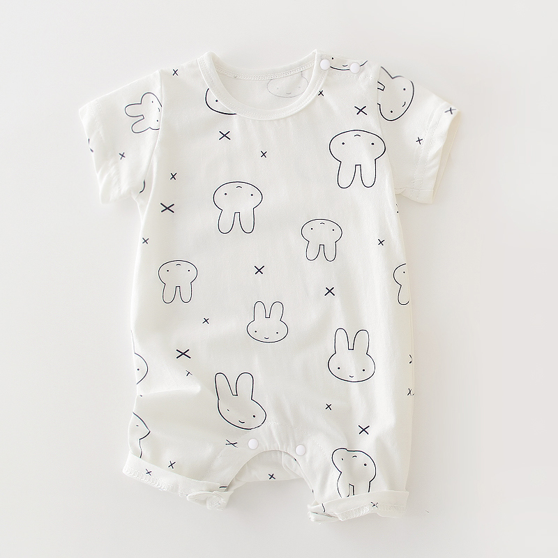 Short Sleeve White Miffy Rabbit