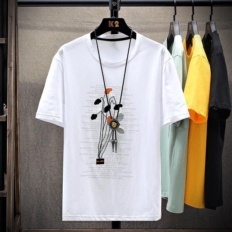 短袖t恤男士夏装纯棉刺绣百搭半袖体恤