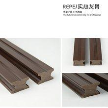 测量 防腐木安装 塑木实心龙骨空心龙骨塑木封边条塑木地板安装 包邮
