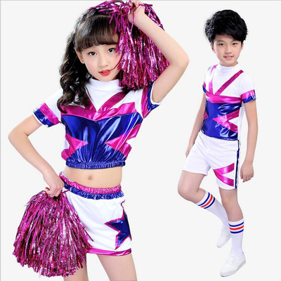 Girls Jazz Dance Costumes Cheerleading Short Skirts and Short Pants for Children Team Campus Games