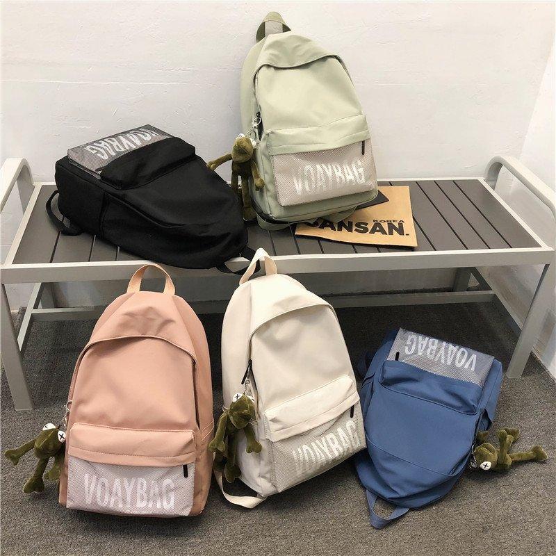 娜达维拉潮牌双肩包简约大容量旅行背包休闲日系初中生高中生书包