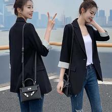 Chic小西装外套女黑色七分袖春秋西服