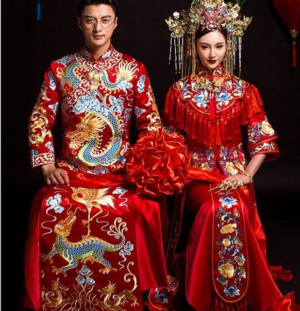 2020 New Men S Clothing Xiu Red Chinese Wedding Dress Costume Hi