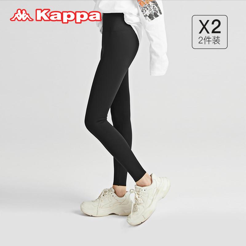 Kappa 卡帕 21年秋冬新款 女式运动打底裤 鲨鱼裤 长裤 KP1L02 2条装 天猫优惠券折后¥99包邮(¥199-100)