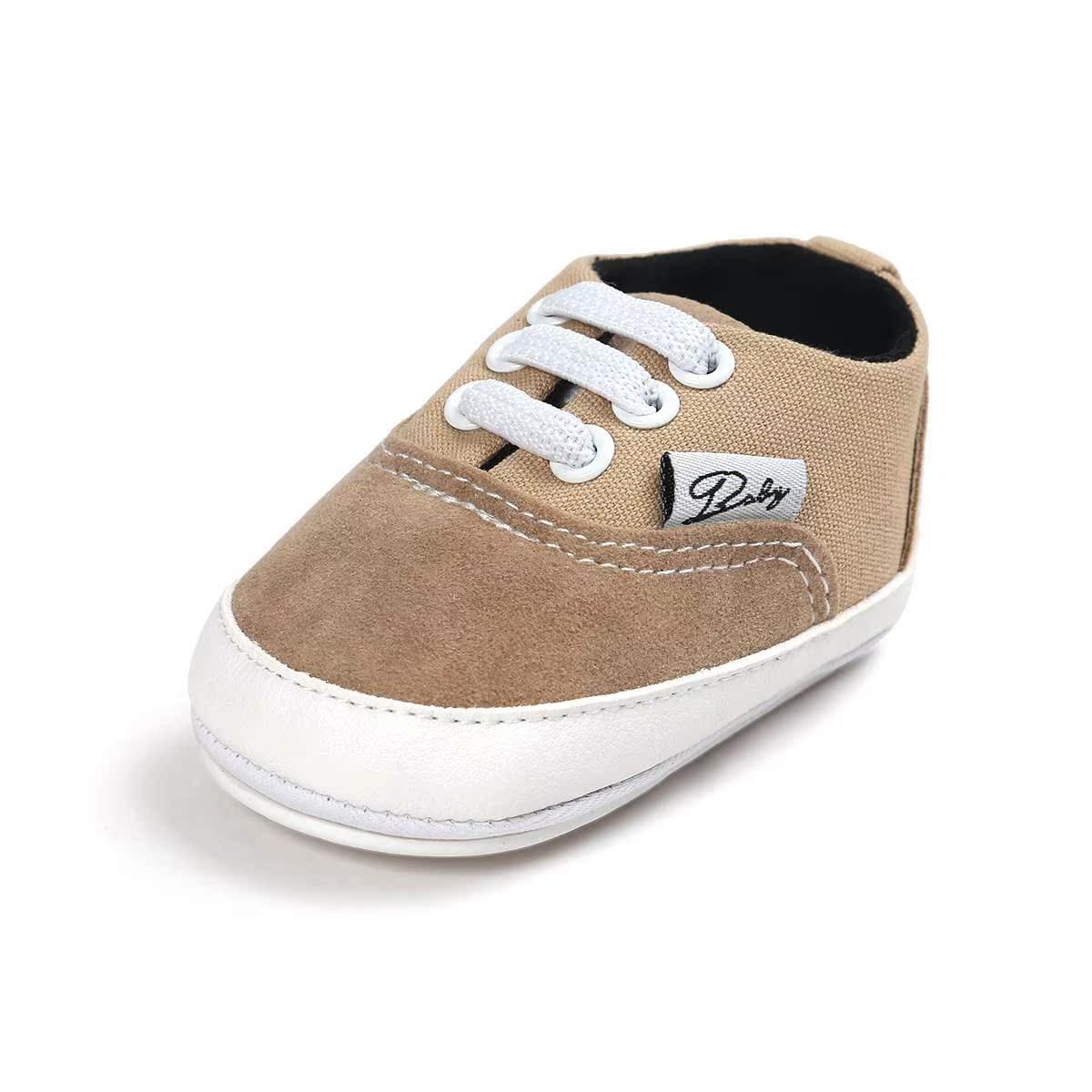 Giày nam và nữ cho bé mùa thu đông 6-8-12 tháng Giày vải bé gái đế mềm cho bé Giày bé gái 0-1 tuổi
