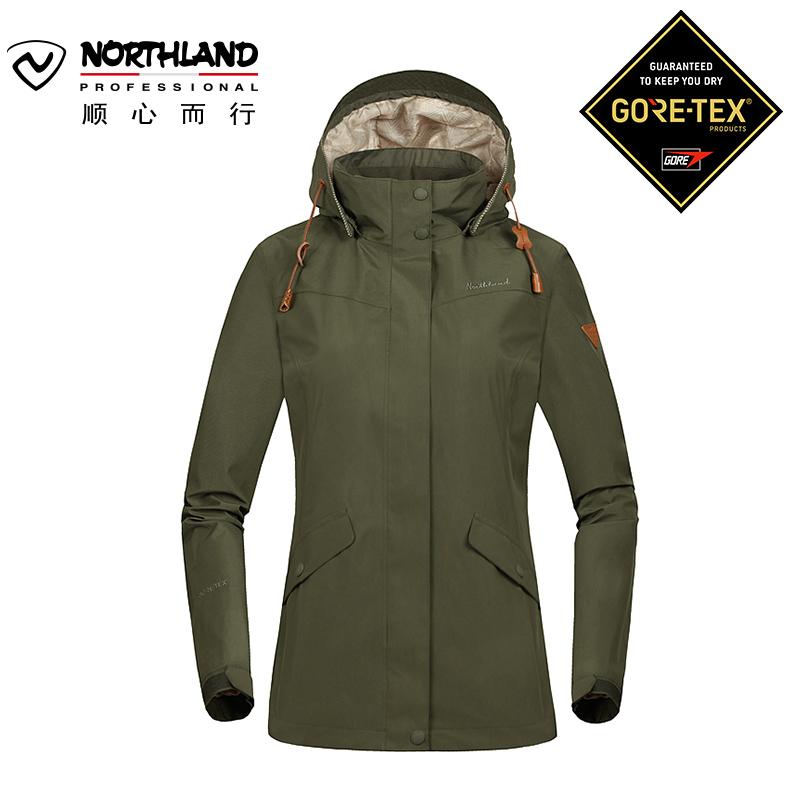 诺诗兰男女户外GORE-TEX防风防水透气可脱卸冲锋衣GS065603