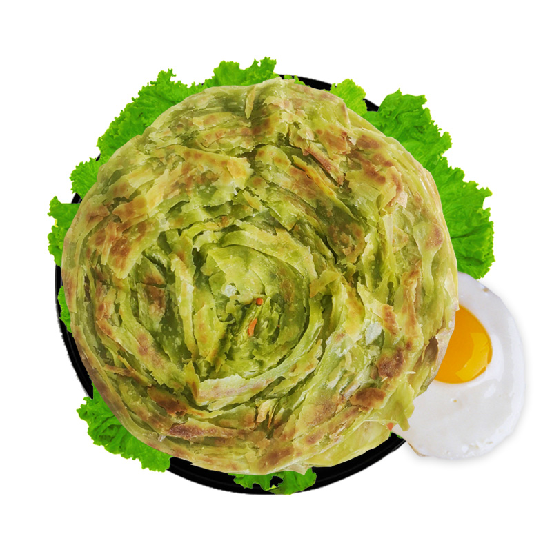 ¥26.90 【30片装】菠菜手抓饼早餐速食