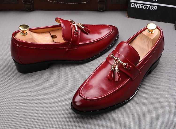 Scarpe Classiche uomo senza lacci punta appuntita modello elegante ... e5c14fafd52