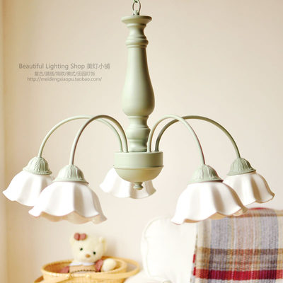 Chandelier fresh American retro literary french country mix and match the home of Wen Ya