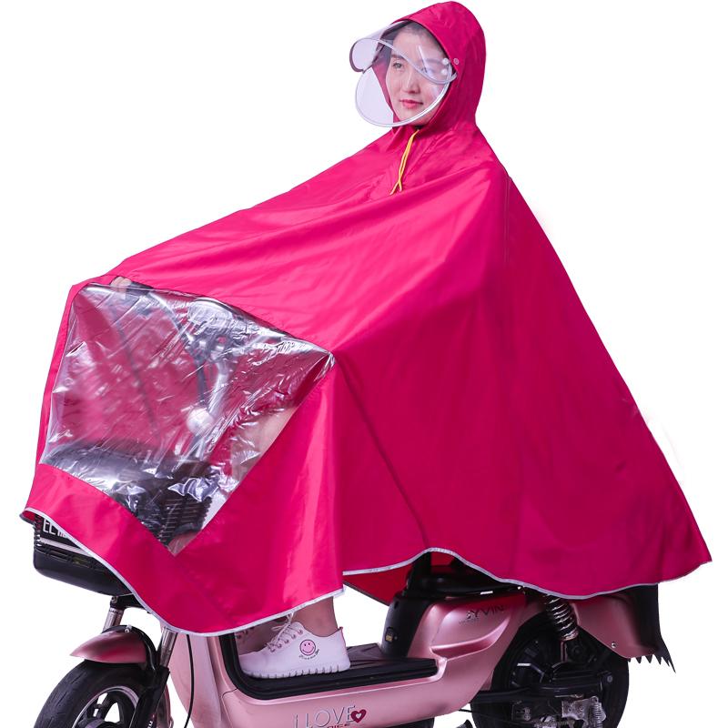 雨俠雨披電動摩托車雙帽檐成人加大加厚