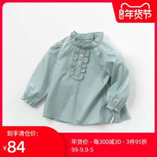 【 ясно пустой 】Давебелла носить размер белла девочки рубашка осень женщина хлопок рубашка девочка рубашка