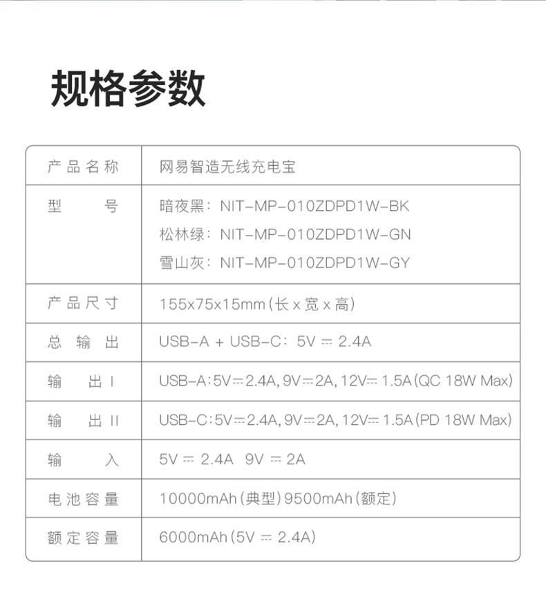 网易严选 无线超薄充电宝 10000毫安大容量 图18
