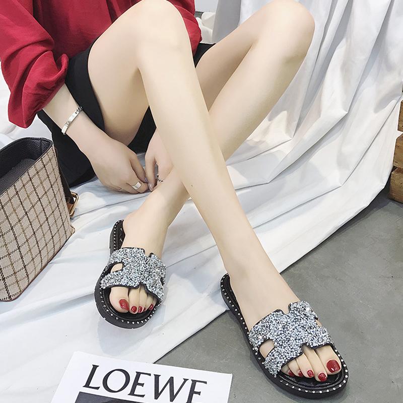 【诺沃伦】夏季新款时尚水钻凉拖鞋
