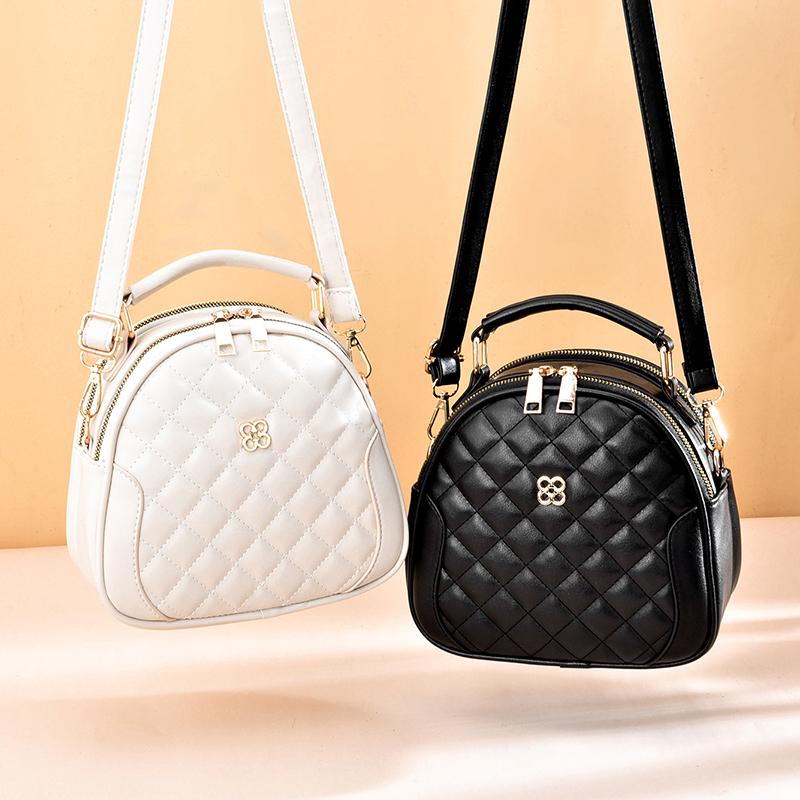包包女斜挎新款潮菱格单肩包女包手提包三层