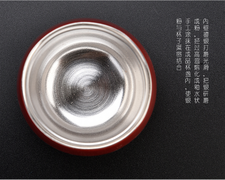 Ancient coppering. As silver Chinese lang sheng up red glaze masters cup a cup of pure checking ceramic kung fu personal sterling silver cups of tea
