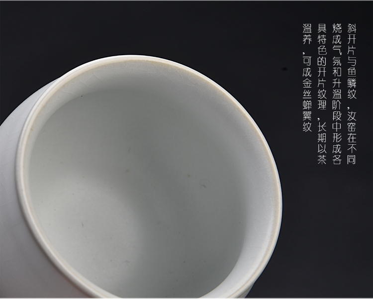 The ancient sheng up jingdezhen hand - made ceramic sample tea cup pure manual small single cup tea set your up master kung fu tea cup