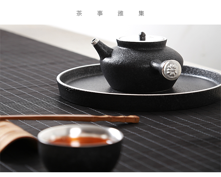 Ancient sheng up 3 new ceramic coppering. As silver tea set his mind travel suit, black pottery dry mercifully built sample tea cup lamp