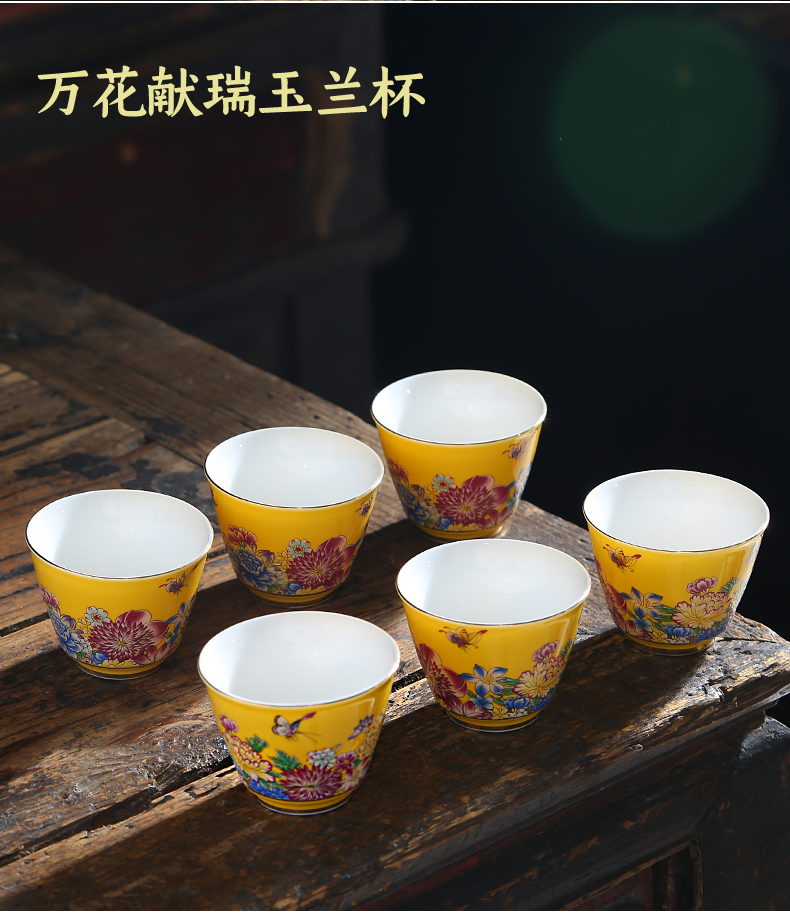 The Master cup single cup 999 sterling silver cup tea ceramic sample tea cup with silver, kung fu bowl is pure manual coppering. As silver cup
