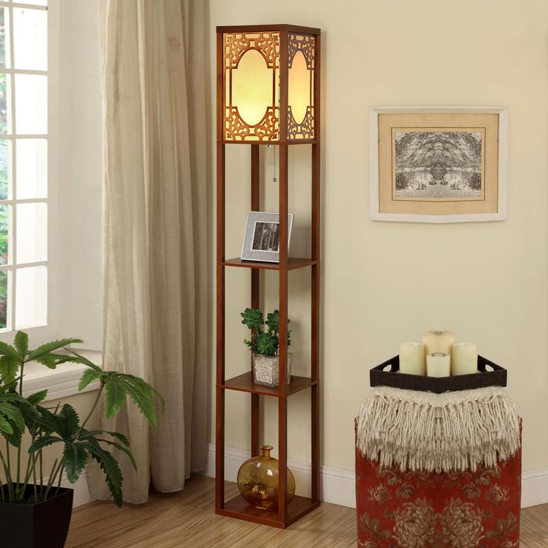 复古v客厅中式客厅落地灯地灯床头灯多功能创意护眼沙发卧室