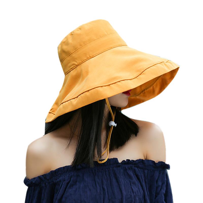 热销17件包邮【女神必备】双面防晒渔夫帽
