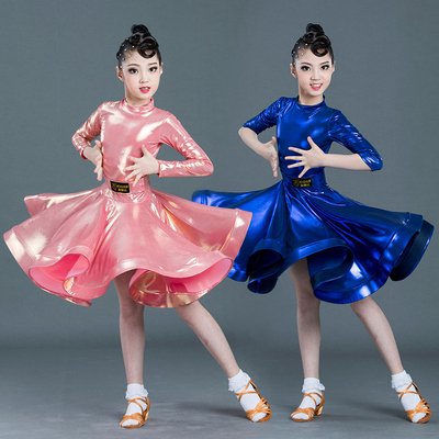 Girls' Latin dance dress, fog gold watch, performance dress, dance dress, professional competition, standard large skirt